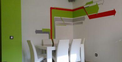 Decoración de pinturas en salones