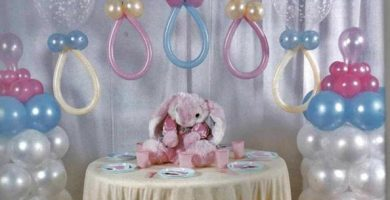 Decoracion de globos para baby shower