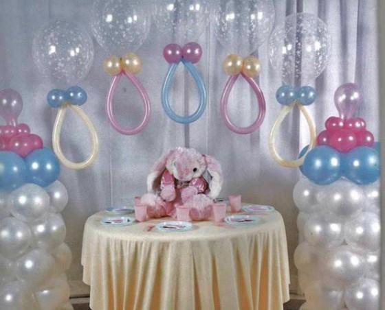 Decoracion de globos para baby shower
