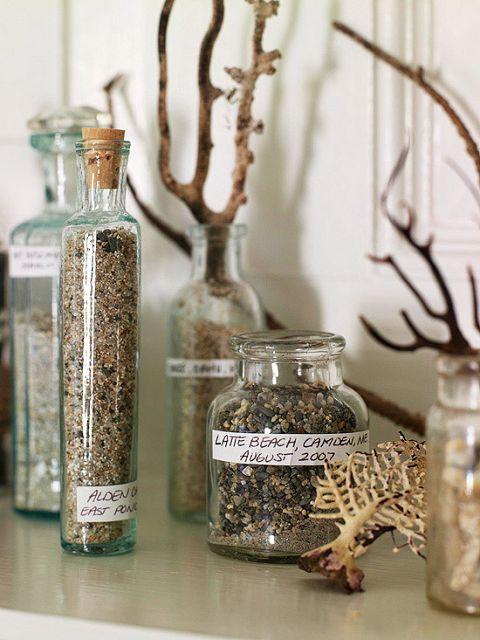 decoracion con arena y piedras