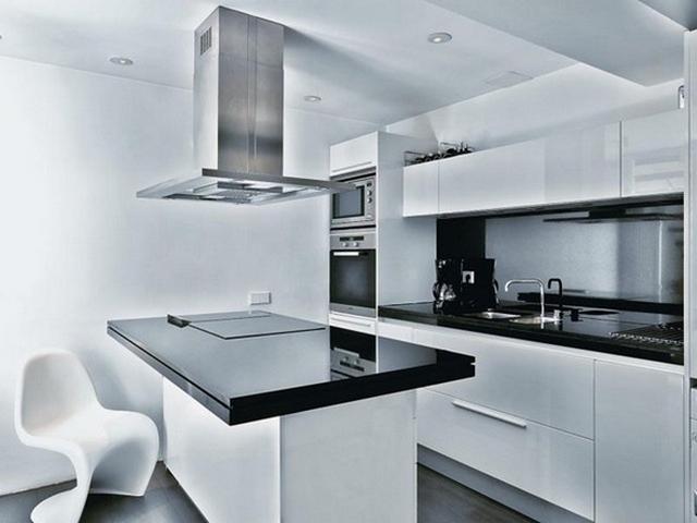 Cocinas minimalistas blancas for Cocinas minimalistas blancas