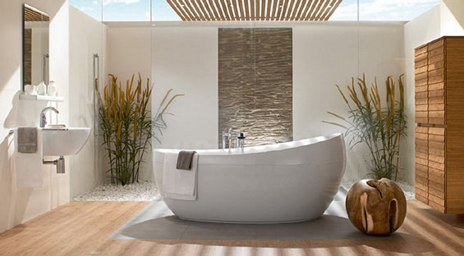 Feng Shui Habitacion Baño:Natural Bathroom Design