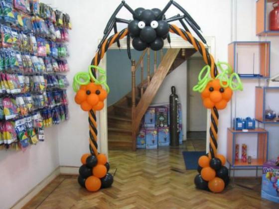 Decoracion de halloween para fiestas infantiles con globos - Decoracion para halloween ...