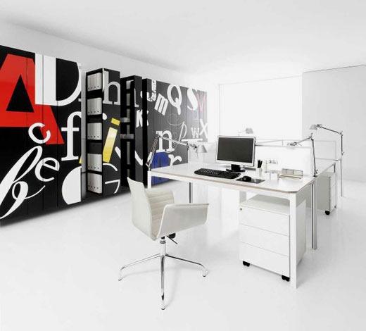 Decoracion de oficinas modernas con escritorio - Decoracion oficinas modernas ...