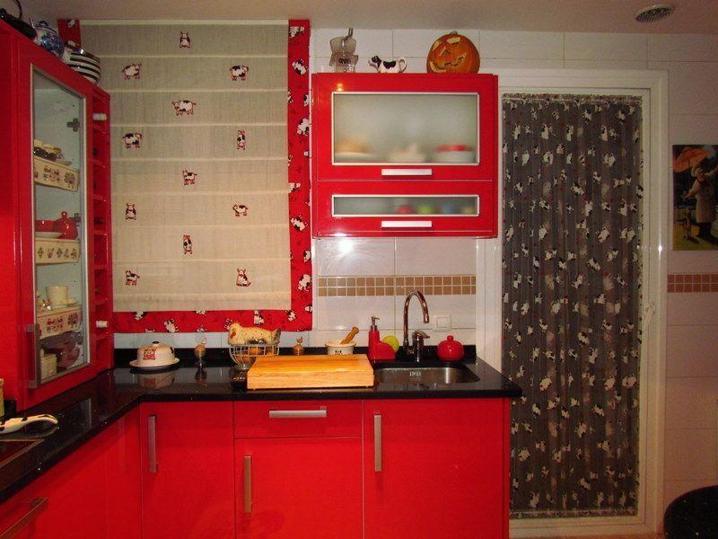 Decoraci n de cocinas rojas - Fotos paredes pintadas ...