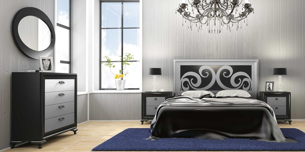 Decoraci n de dormitorios de color plata - Fotos en habitaciones ...