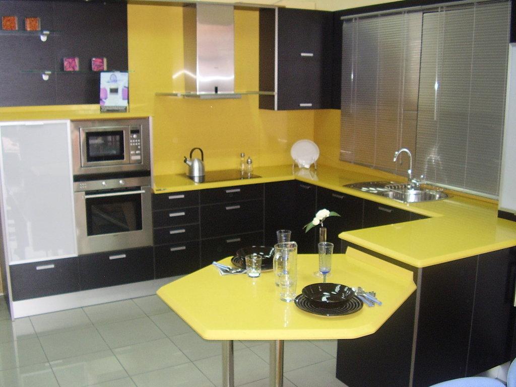 Decoraci n de cocinas amarillas - Colores para muebles de cocina ...