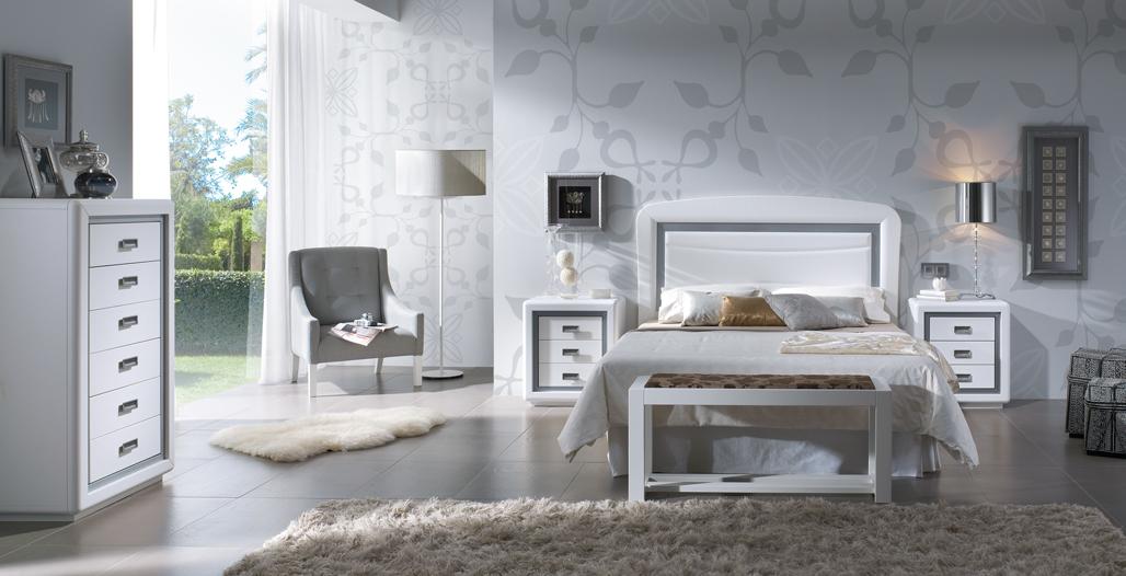 Decoraci n de dormitorios de color plata - Como decorar un dormitorio moderno ...