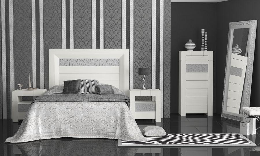 Decoraci n de dormitorios de color plata - Dormitorios modernos en blanco y plata ...